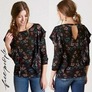 NEW! Free People Dock Street Floral Top Blouse